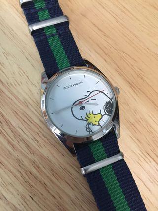 Snoopy Watch 手錶 nylon strap not Timex Rolex