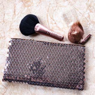 MAC Snowball Collection Makeup Bag & Face Brush
