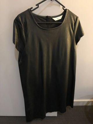 Seed Black Dress PU Leather