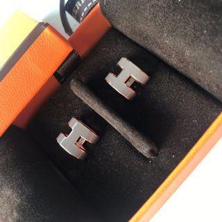 Hermes earrings pop h etain rose gold