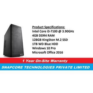 [Refurbished] Deepcool Wave V2 | Intel Core i3-7100@3.90GHz | 4GB DDR4 RAM | 128GB M.2 SSD | 1TB WD Blue HDD | Windows 10 Pro | Microsoft Office 2016 | 1 Year Warranty |