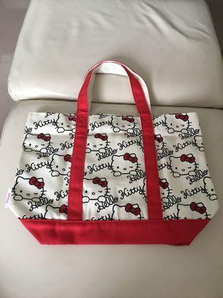 Hello Kitty布質手挽袋
