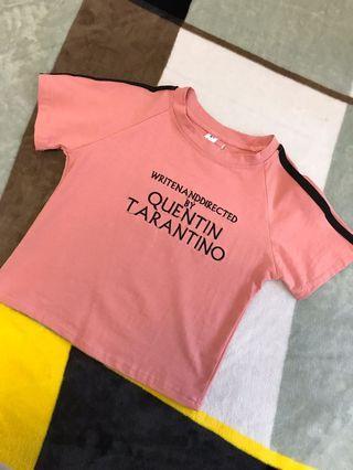 🚚 粉紅短板上衣