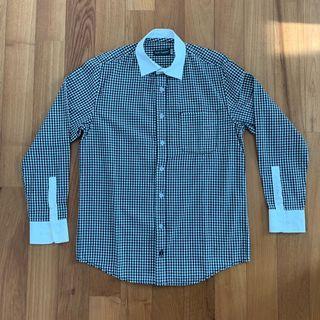 Men's Hush Puppies black checkered shirt