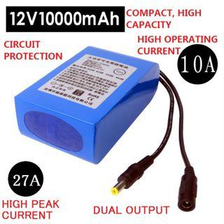 HIGH POWER 12V Rechargeable Lithium Battery