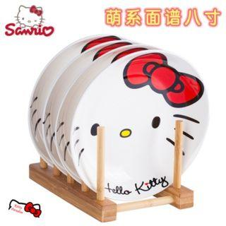 8 inches 4pcs Hello Kitty Ceramic Plate Set (Red) H141923C #EST50