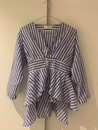 Stripe blouse (fit small to medium)