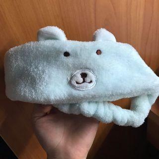 藍色熊熊頭巾
