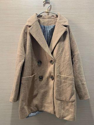 🚚 #便宜出清⚠️#駝色毛呢西裝外套#半價衣服拍賣會#