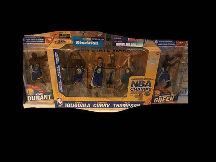 Mcfarlane NBA Golden State Warriors Champion Pack Curry Thompson Iguodala Durrant Green 金州勇士