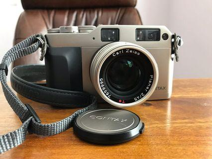 Excellent Contax G1 Data Back w/ Zeiss Planar 45/2