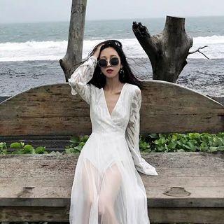 4900c538d White Lace Bodysuit Maxi Dress Instock Free Postage