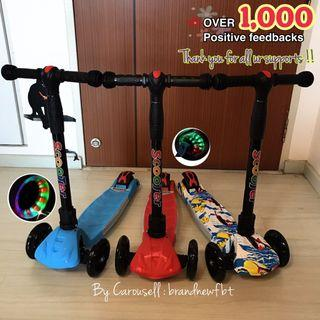Kids scooter foldable lights in the wheels kids skate kick scooter