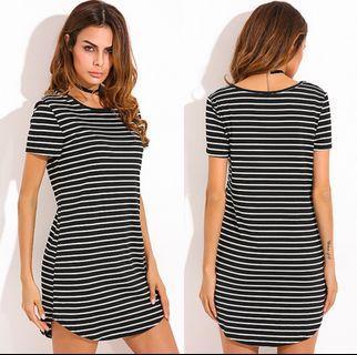 Striped Bodycon Dress Us 22