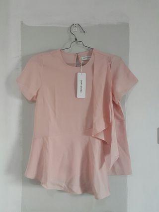 Pink Top COTTON INK Pink Dieval Blouse Atasan Baju