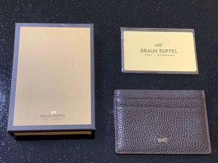 Braun Buffel Card Holder ( 100% Unused pre owned )