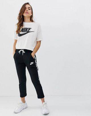 Nike Black Polyknit Track Pants
