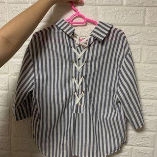 2-way Striped Blouse