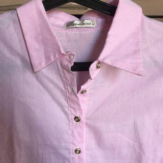Pink Pinstripe Polo Dress