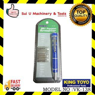 KING TOYO VK-138 9 in 1 Precision Screwdriver