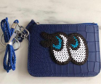 🚚 Card and coin pouch in blue