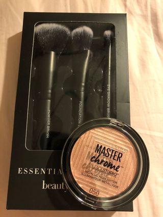 Brush set + highlighter