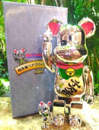 Preorder Lucky Fortune Manekineko Beckoning Cat 400% + 100% Bearbrick PO #ENDGAMEyourEXCESS