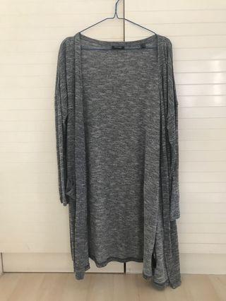 Grey Long Cardigan