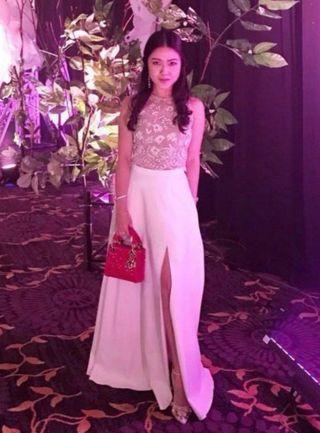 Duchess & Co Glitterati top - white #APR75