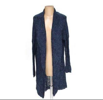 Abercrombie & Fitch Long Knitted Cardigan - Navy #apr75