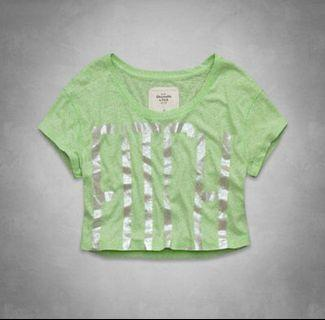 Abercrombie & Fitch Green Crop Top #apr75