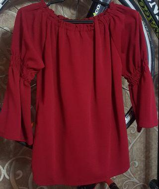 Plus size red top