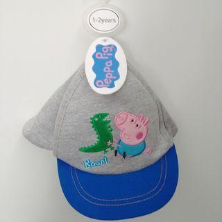 (1-2yrs) peppa pig 出口歐洲 可爱兒童男BB嬰兒兒帽仔太陽帽 kids baby cap