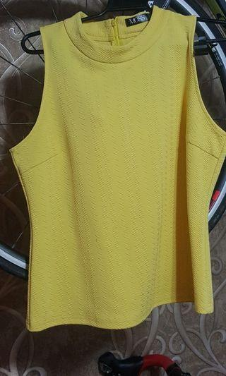 Plus size yellow top