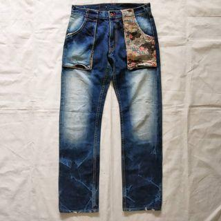 Eternal fatigue denim floral patchwork
