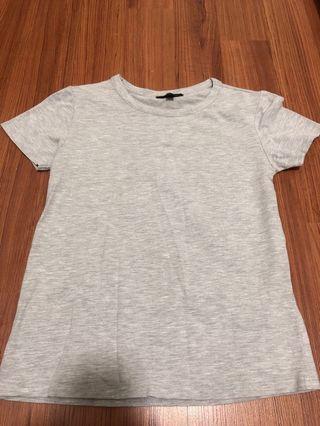 Top shop basic top (light grey)