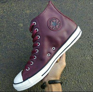Converse CT All Star Leather Maroon