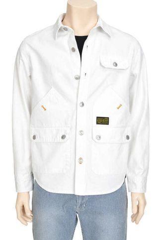 全新 韓國版 Evisu Jeans 男裝 名牌 牛仔布 白色 外套 jacket 原價$900 包順豐