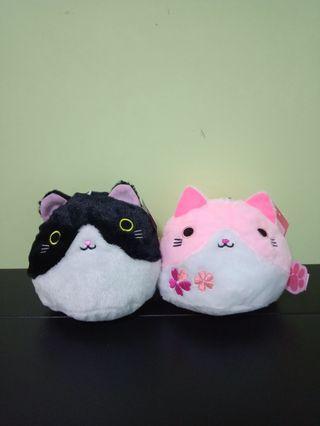 🆕Love Cat Plush Toys (×2)
