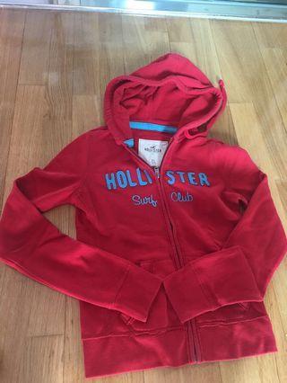 Hollister red jacket 紅色外套 hoody