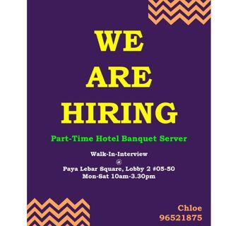 Part Time Hotel Banquet Server