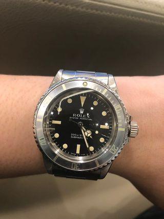 Rolex Submariner 5513 Meter First