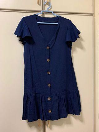 🚚 Blue Babydoll Dress