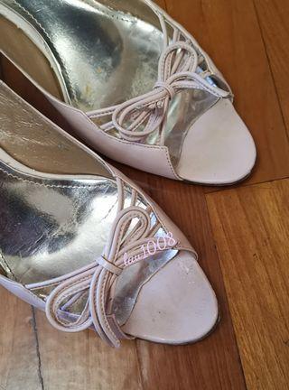 💯 女裝50mm淡粉紅高跟鞋 Kitty Heels 37