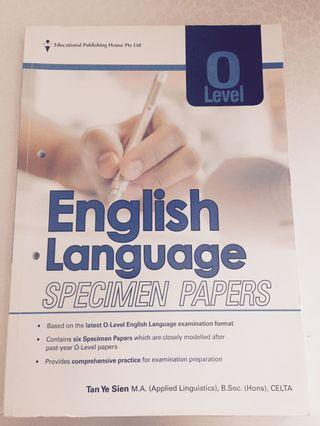 🚚 English O level Specimen Paper