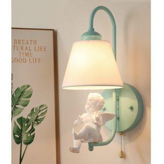 Elegant Baby Angel with Violin Wall Lamp 小天使天籟之音壁燈