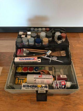 FREE Assorted modeling and craft supplies + toolbox