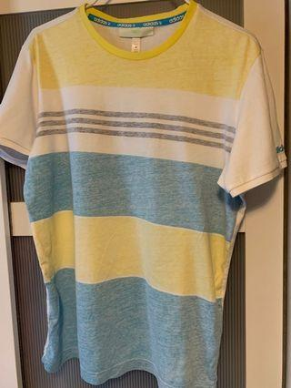 adidas neo t shirt lime yellow and turquoise blue