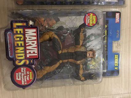 Toybiz marvel legends sabertooth x men avengers