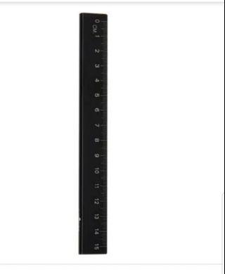 Smiggle metal 15cm ruler black rm10 New
